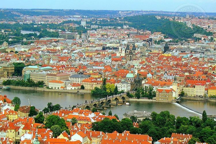 Чехия, обзорная экскурсия по Праге, вид на город