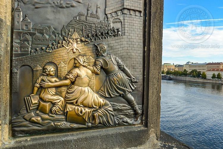 Чехия, обзорная экскурсия по Праге, Карлов мост, место где загадывают желания