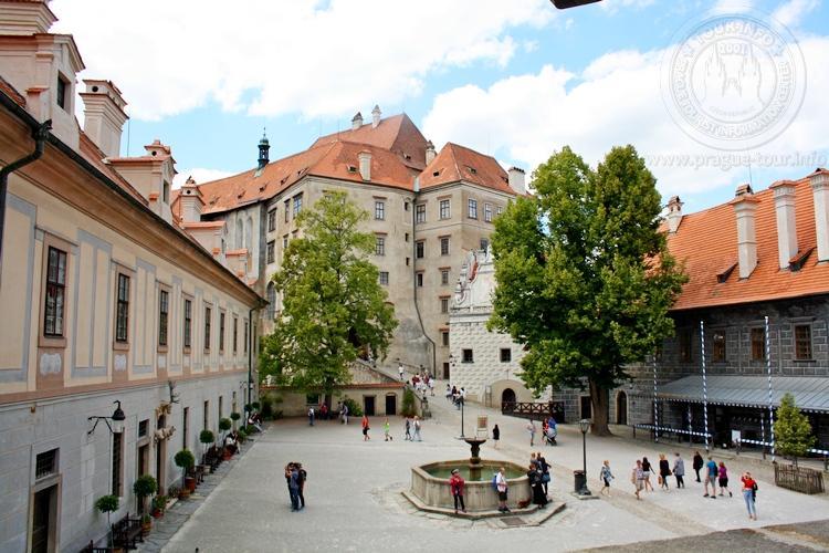 Чешский Крумлов и замок Глубока экскурсия из Праги по Чехии. Колодец