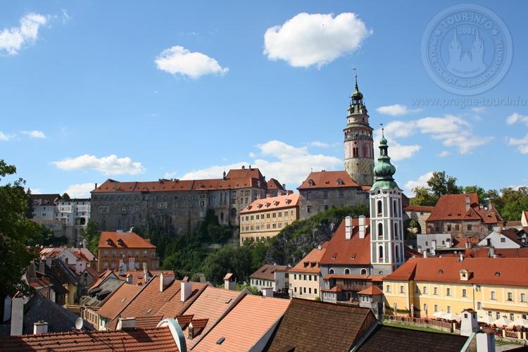 Чешский Крумлов и замок Глубока экскурсия из Праги по Чехии. Замок Чешский Крумлов.